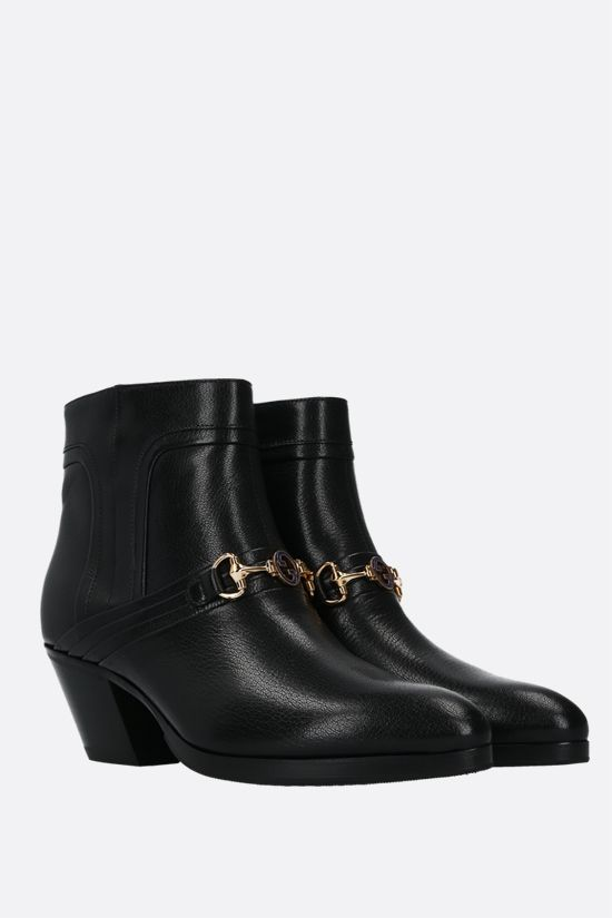GUCCI: Quentin shiny leather western boots Color Black_2