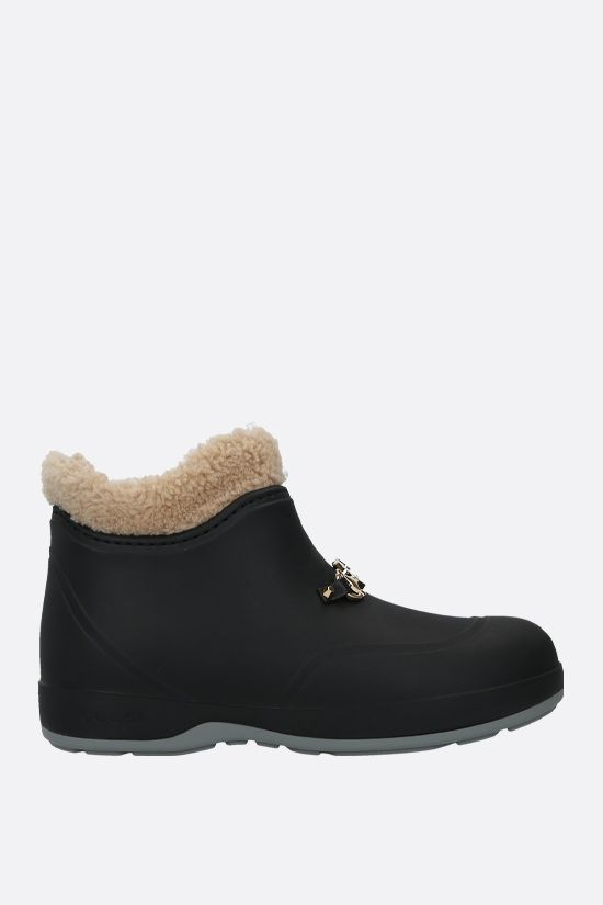 GUCCI: Horsebit-detailed rubber ankle boots Color Black_1