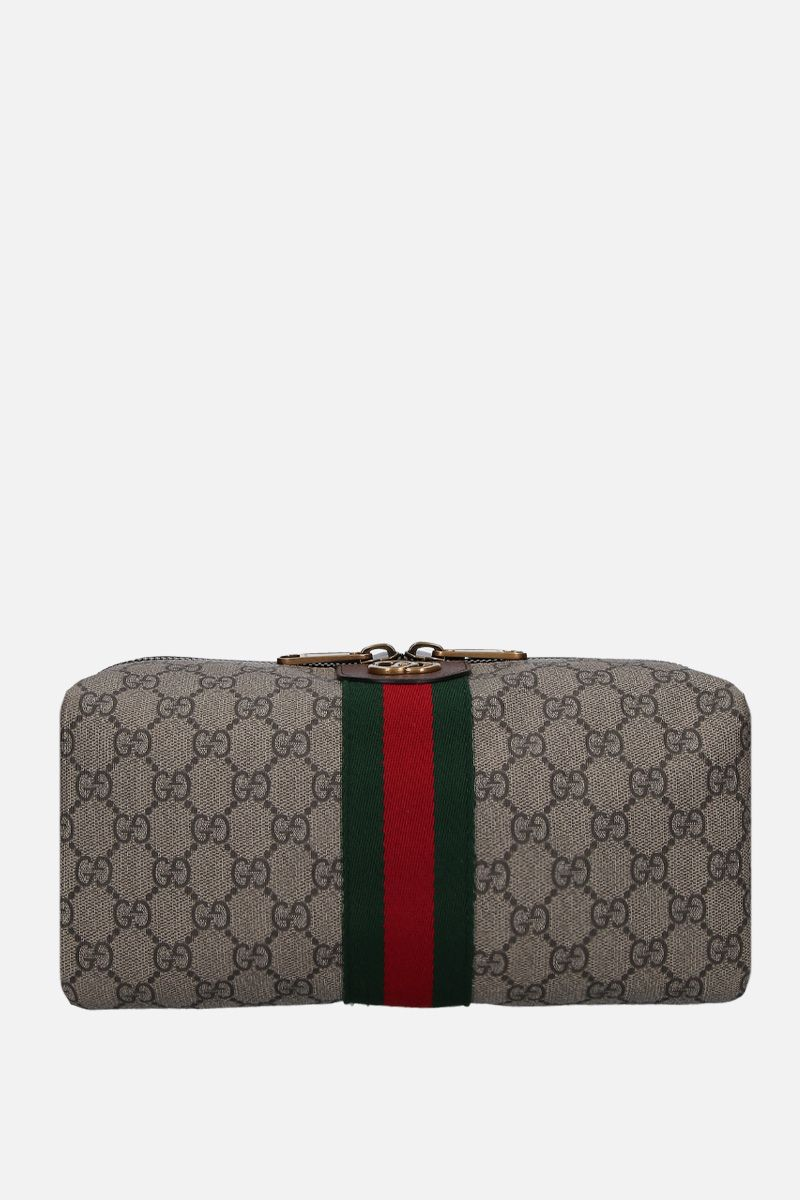 GUCCI: Ophidia GG Supreme canvas beauty case Color Neutral_1