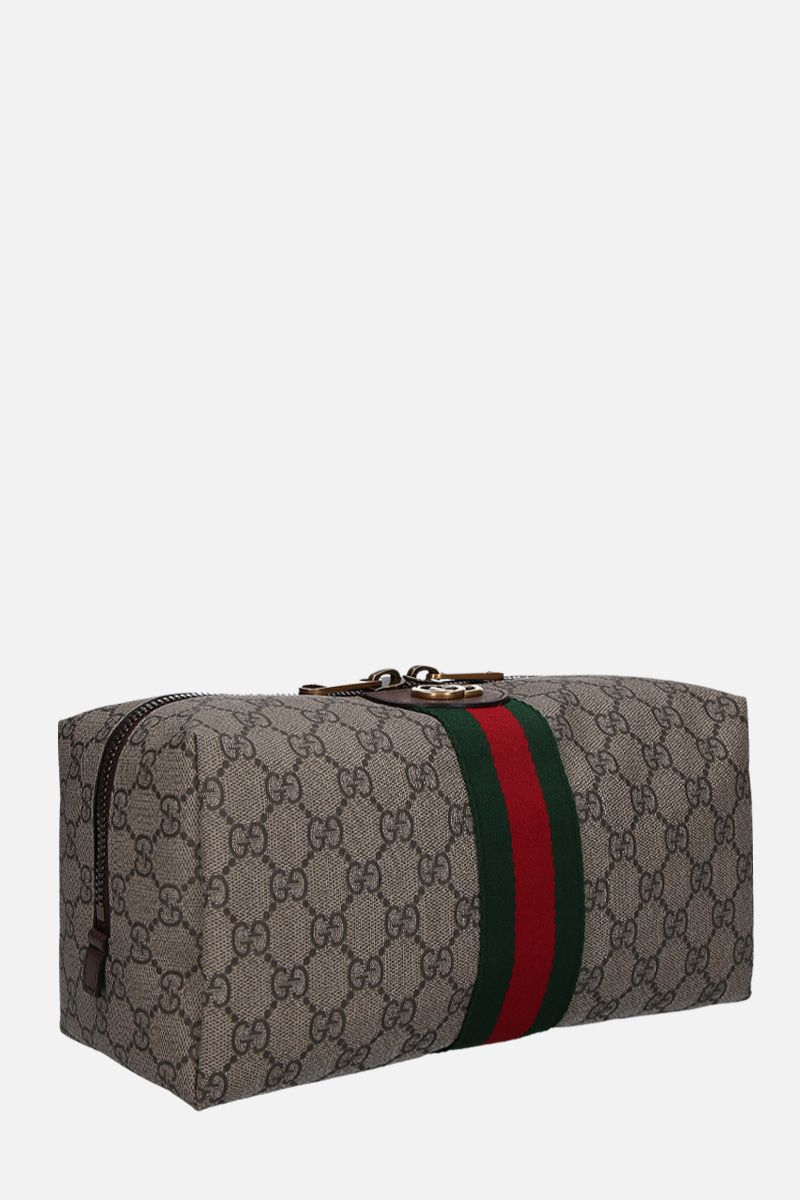 GUCCI: Ophidia GG Supreme canvas beauty case Color Neutral_2