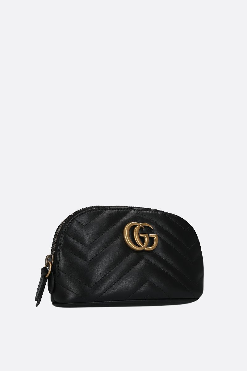 GUCCI: GG Marmont quilted leather beauty case Color Black_2