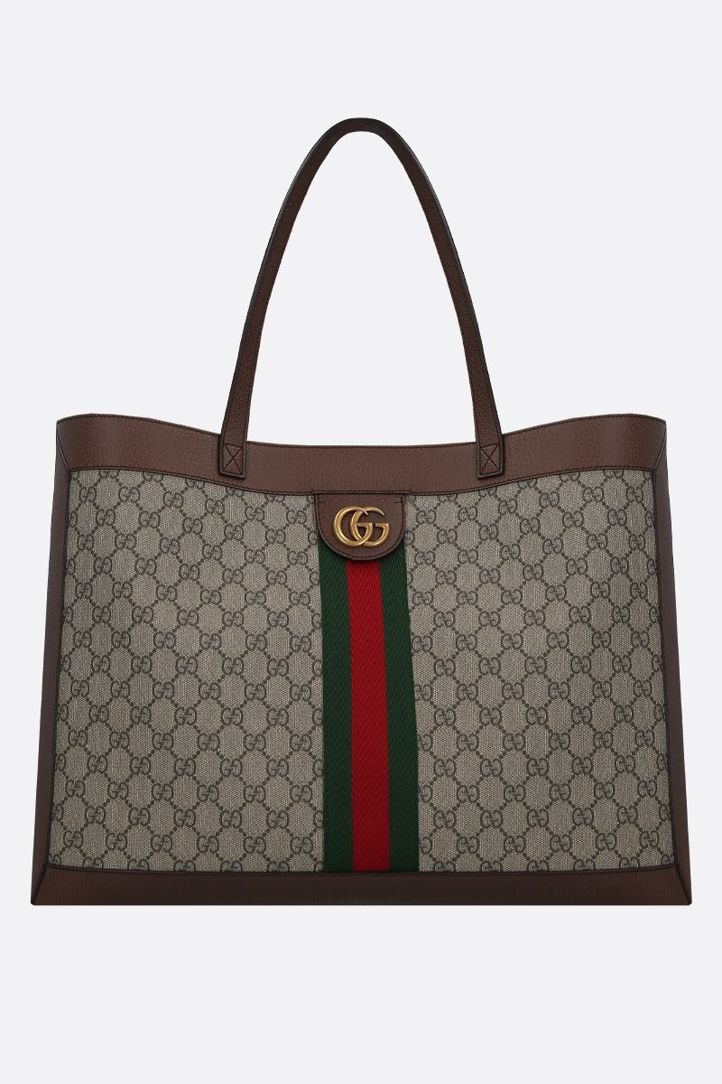 GUCCI: Ophidia shopping bag in GG Supreme canvas Color Multicolor_1