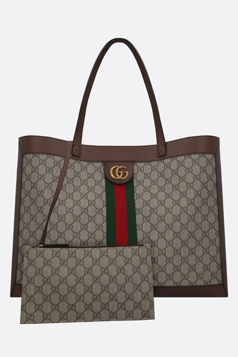 GUCCI: Ophidia shopping bag in GG Supreme canvas Color Multicolor_2
