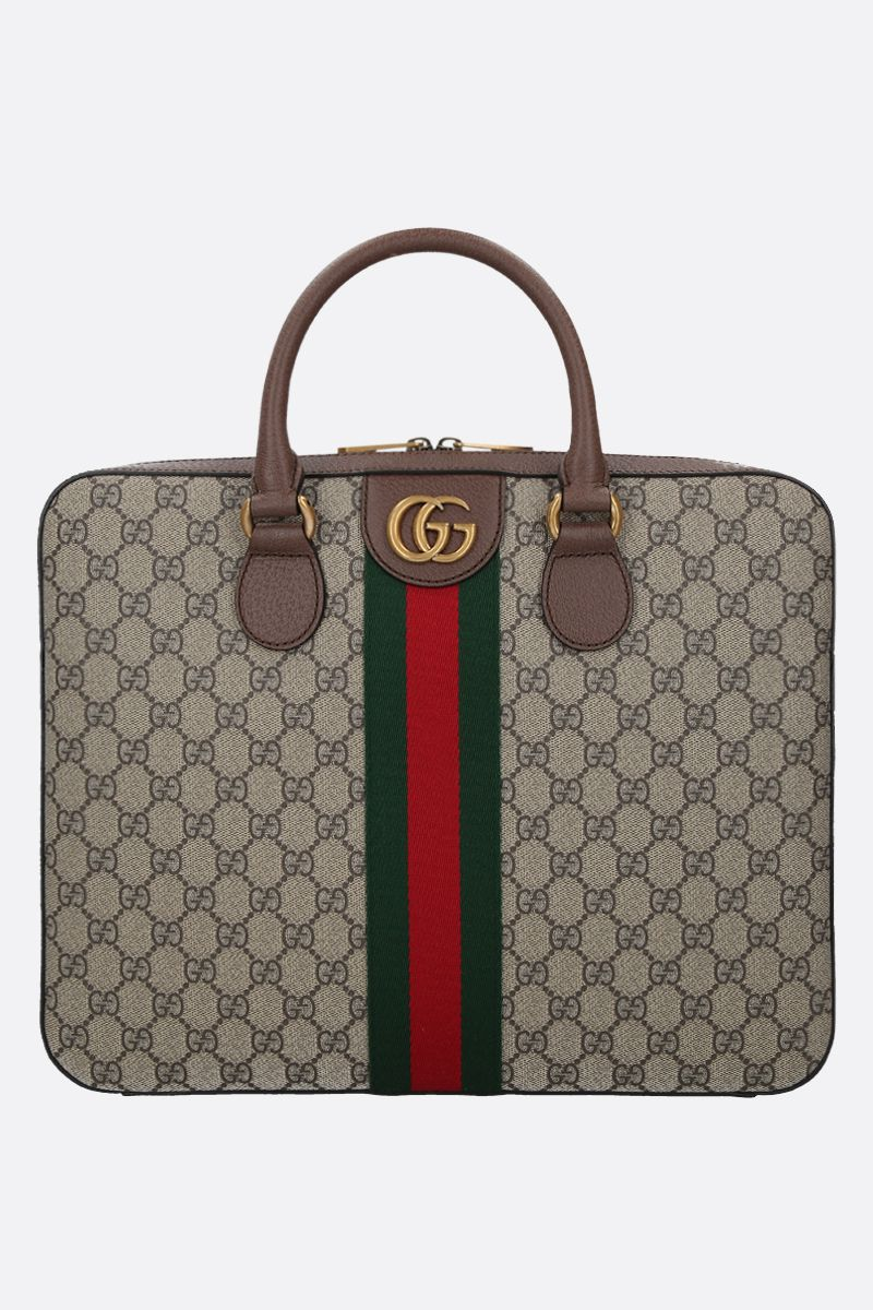 GUCCI: Ophidia document holder in GG Supreme canvas Color Multicolor_1