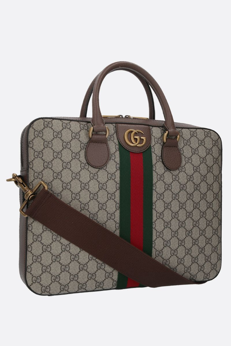 GUCCI: Ophidia document holder in GG Supreme canvas Color Multicolor_2
