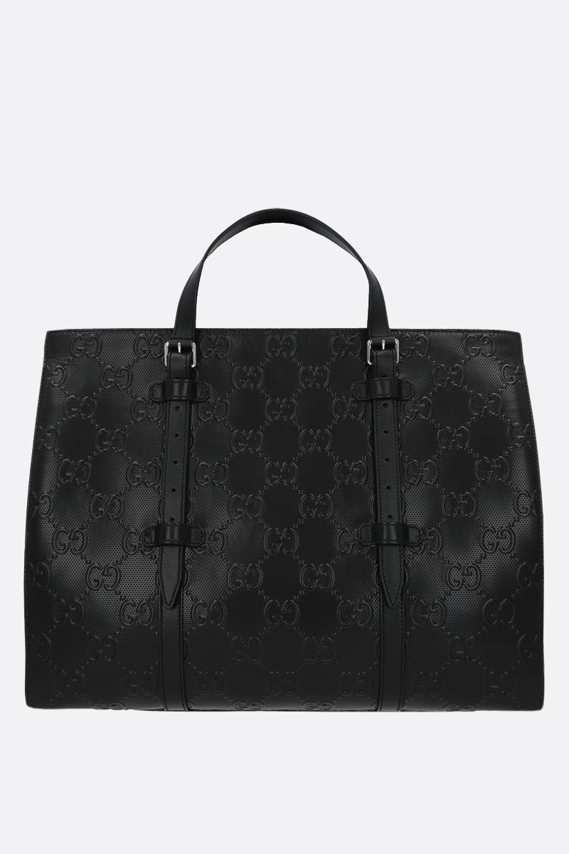 GUCCI: GG leather handbag Color Black_1