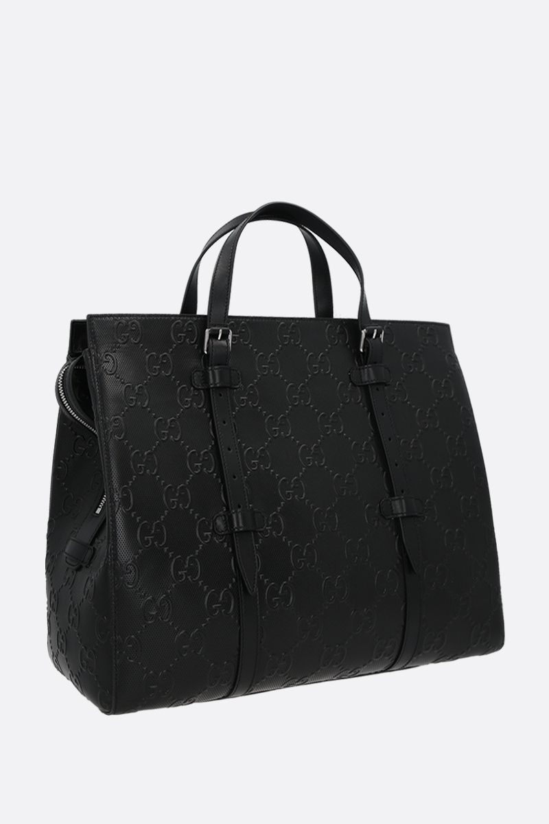 GUCCI: GG leather handbag Color Black_2