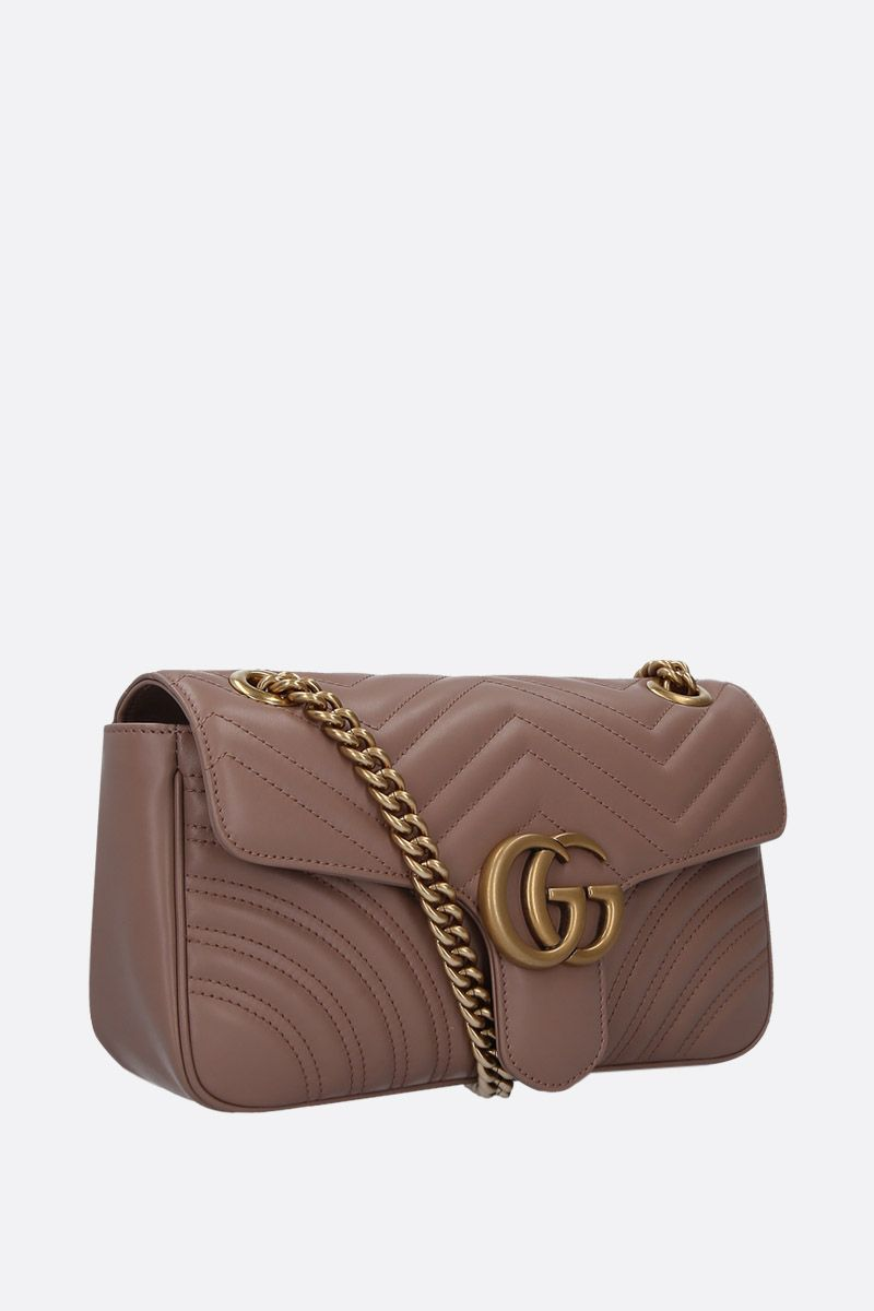 GUCCI: GG Marmont small quilted leather shoulder bag Color Pink_2