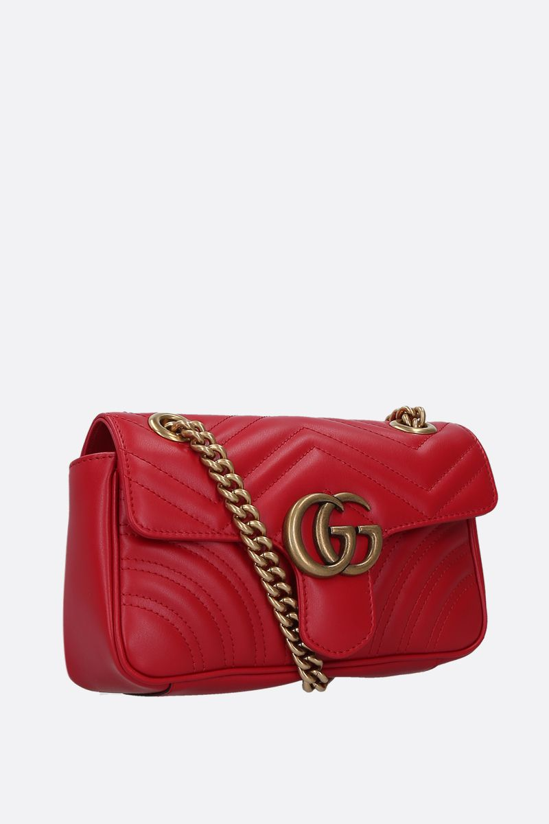 GUCCI: GG Marmont mini quilted leather shoulder bag Color Red_2