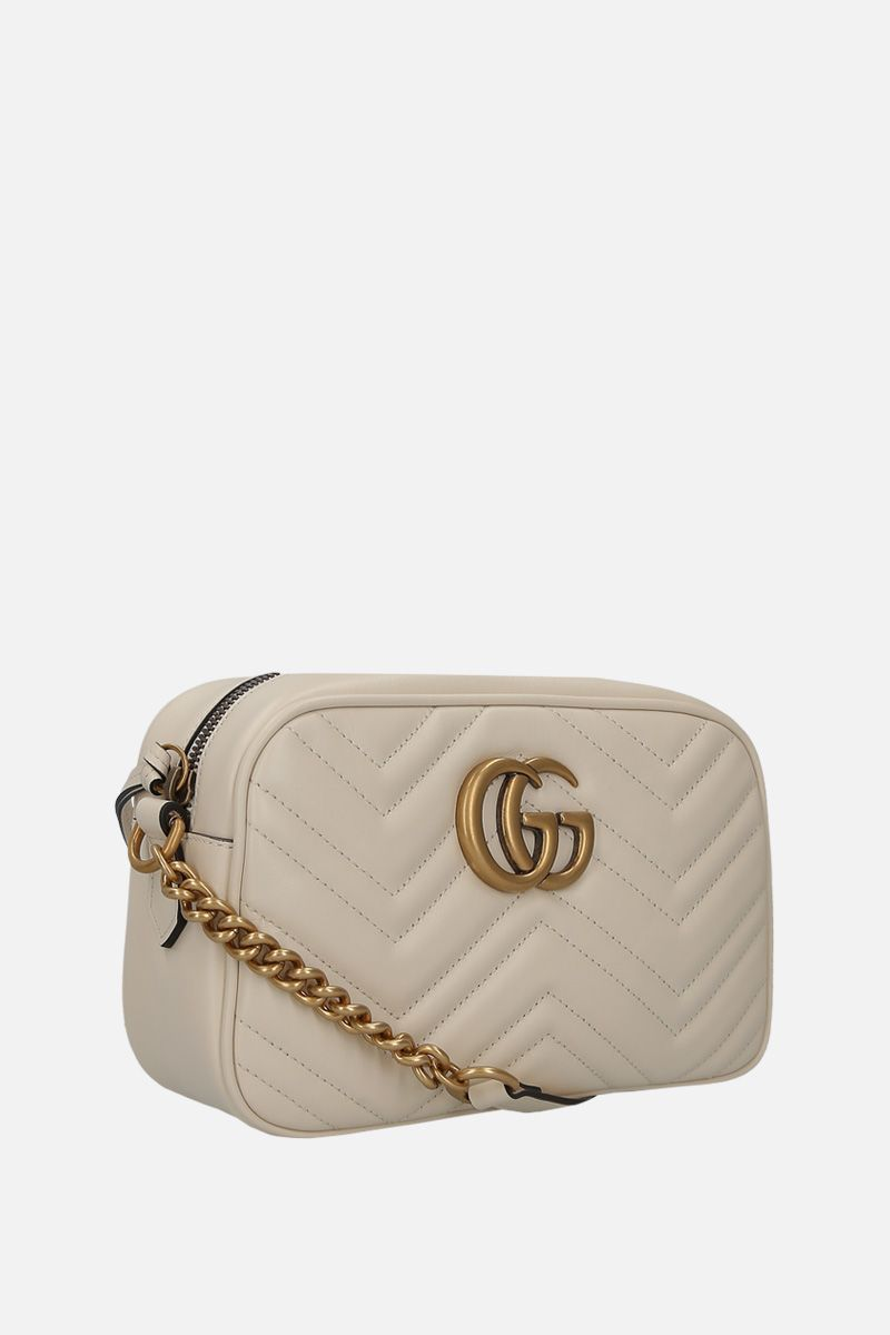GUCCI: GG Marmont small quilted leather crossbody bag Color White_2