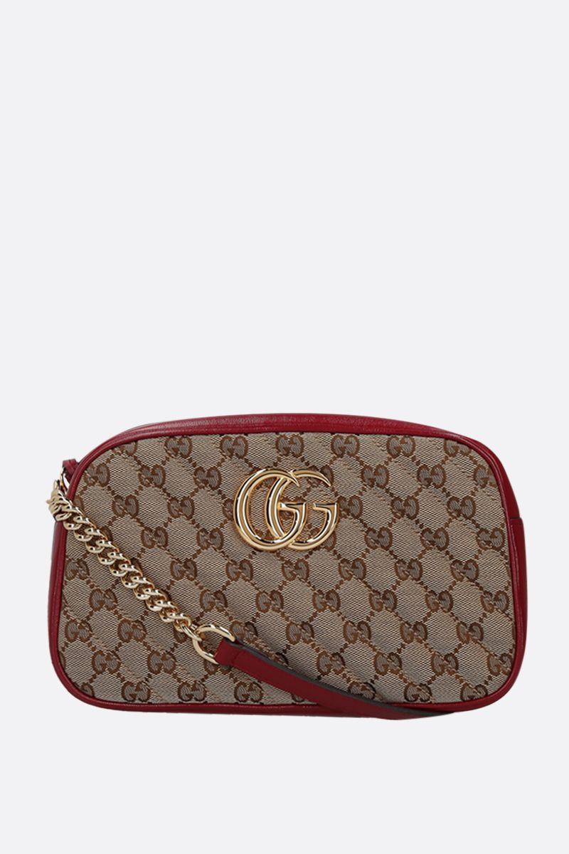 GUCCI: GG Marmont small crossbody bag in Original GG canvas_1