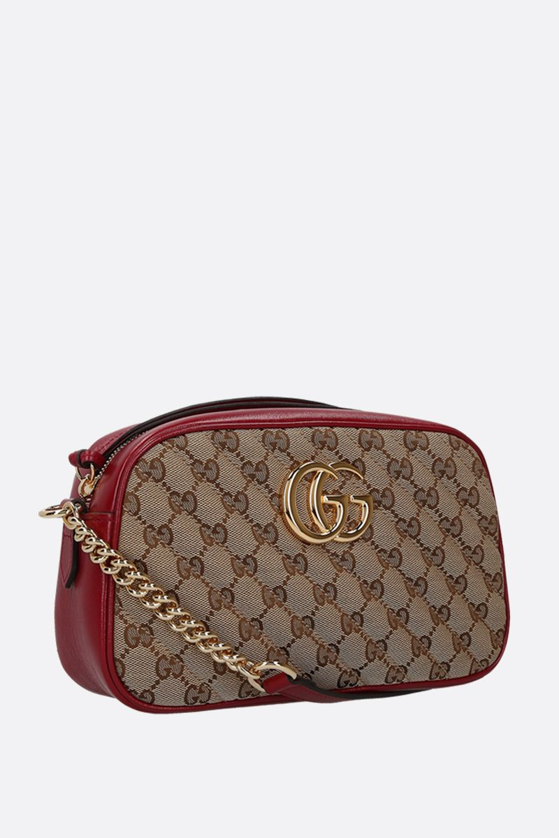 GUCCI: GG Marmont small crossbody bag in Original GG canvas_2