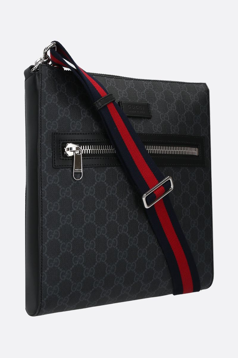 GUCCI: GG Supreme canvas messenger bag Color Black_2
