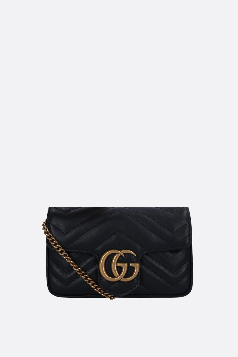 GUCCI: GG Marmont mini quilted leather crossbody bag Color Black_1