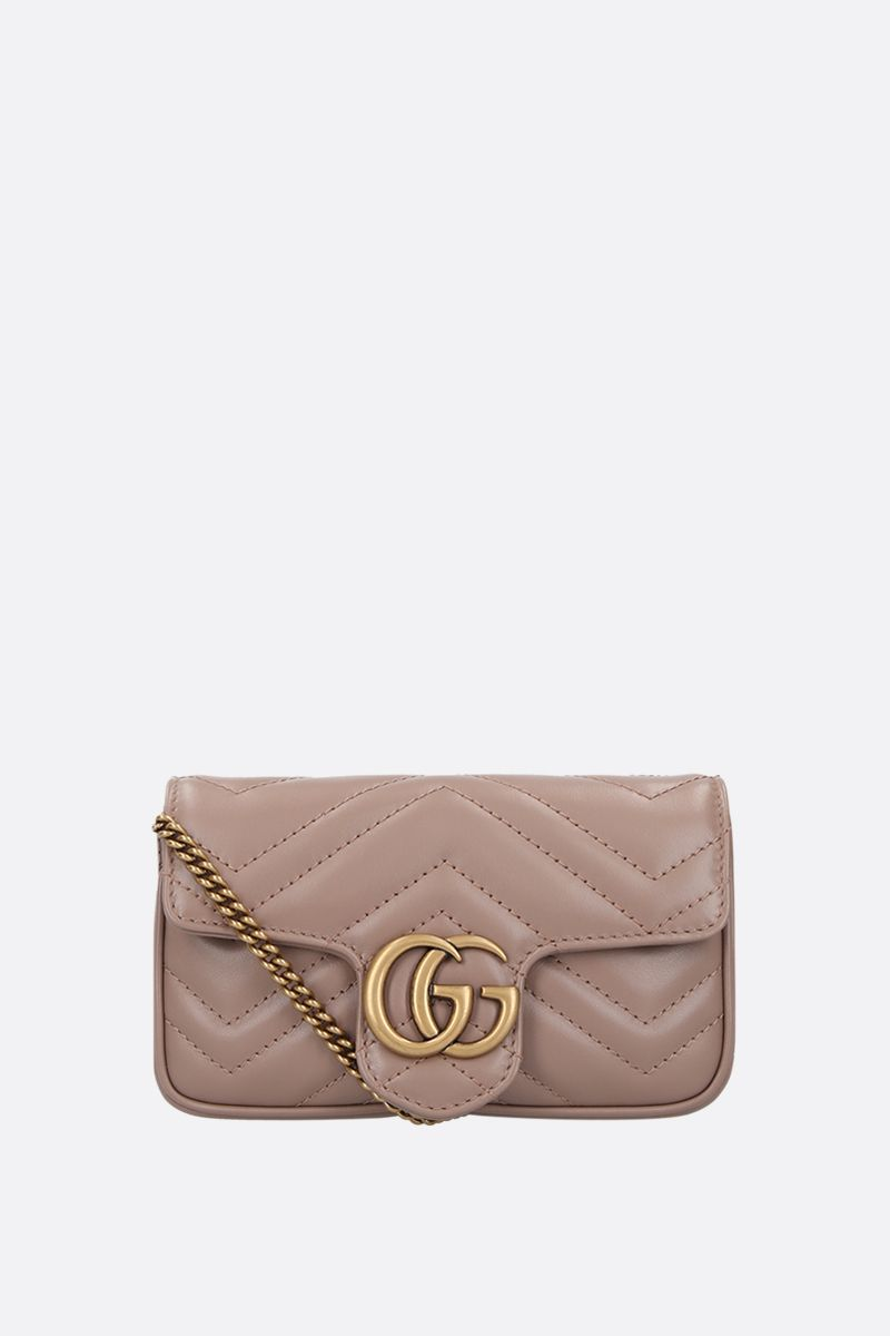 GUCCI: GG Marmont mini quilted leather crossbody bag Color Pink_1