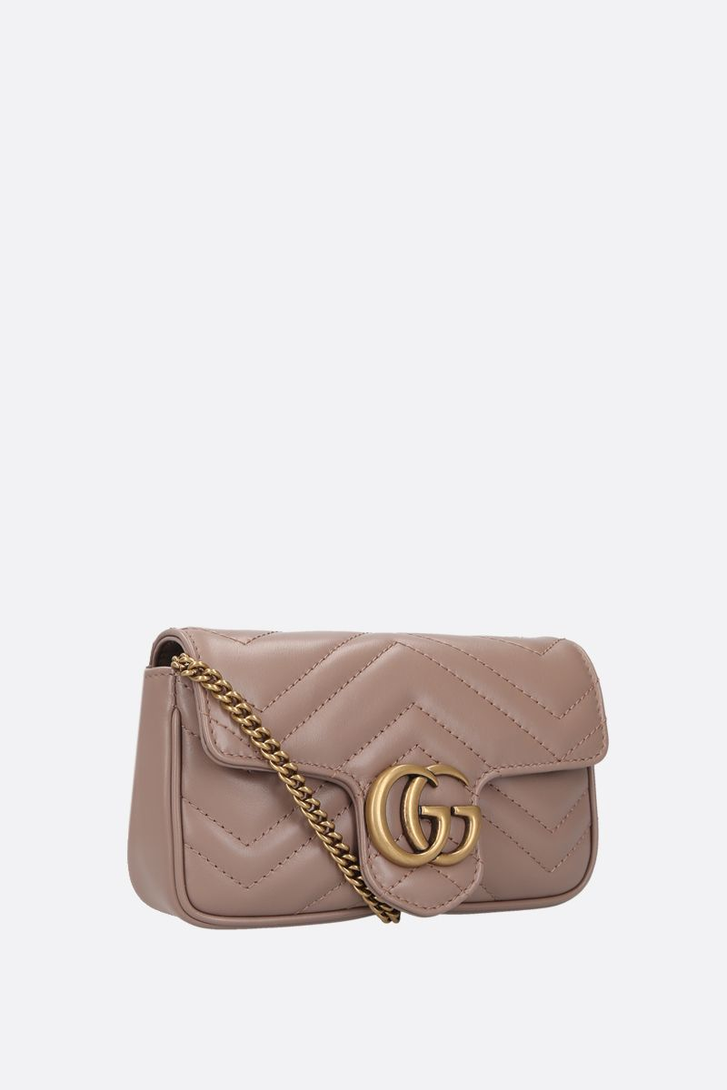 GUCCI: GG Marmont mini quilted leather crossbody bag Color Pink_2