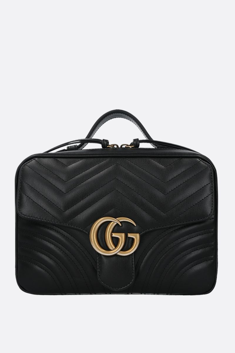 GUCCI: GG Marmont small quilted leather crossbody bag Color Black_1