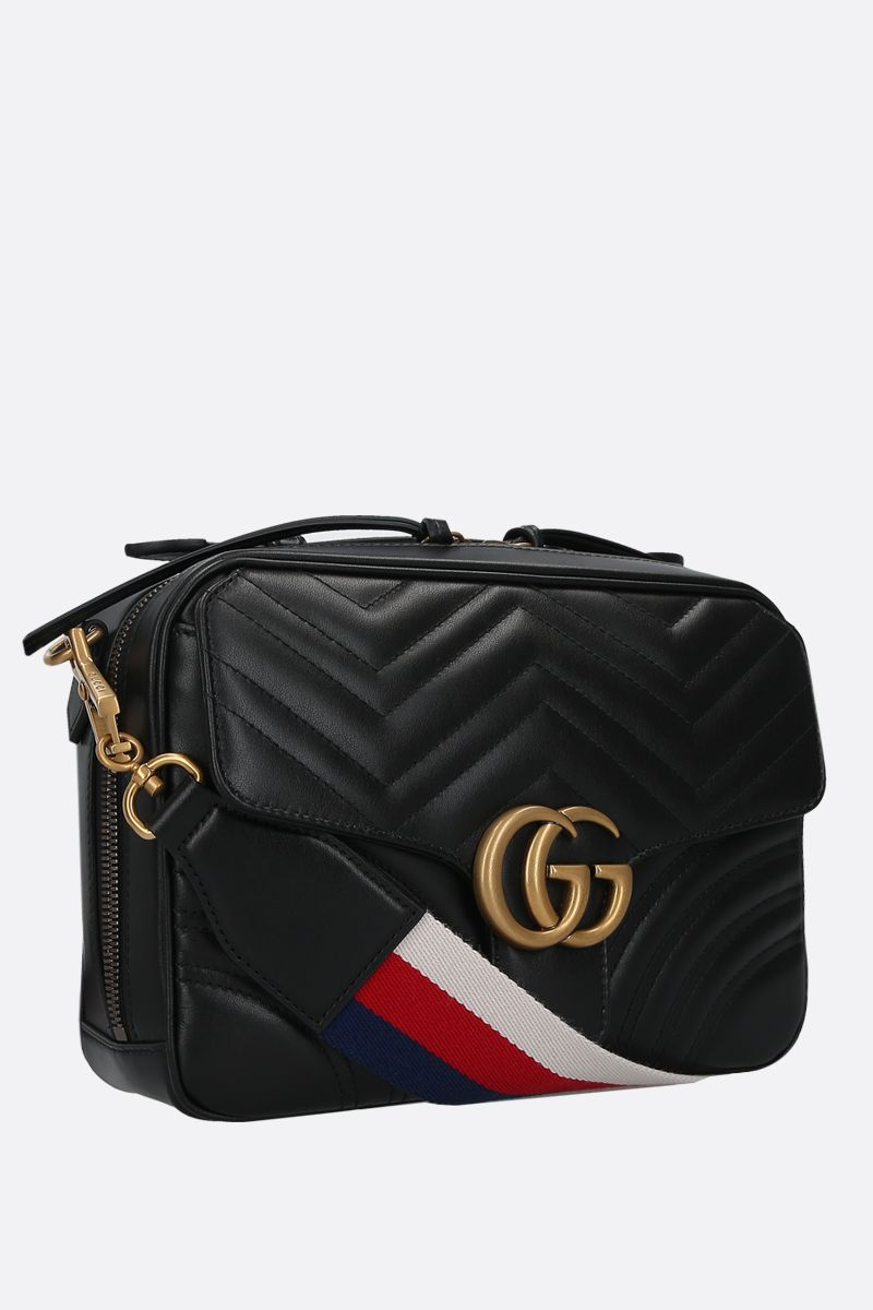 GUCCI: GG Marmont small quilted leather crossbody bag Color Black_2