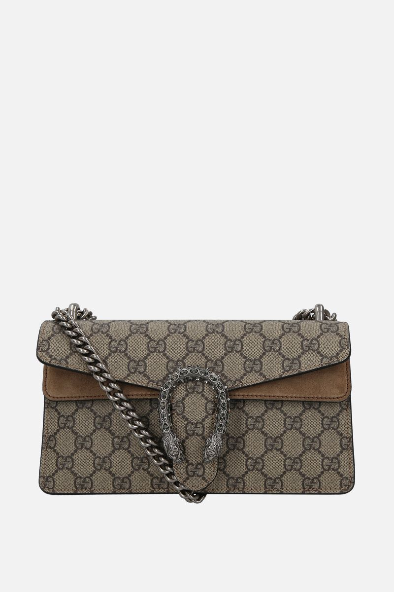 GUCCI: Dionysus small shoulder bag in GG Supreme canvas Color Grey_1
