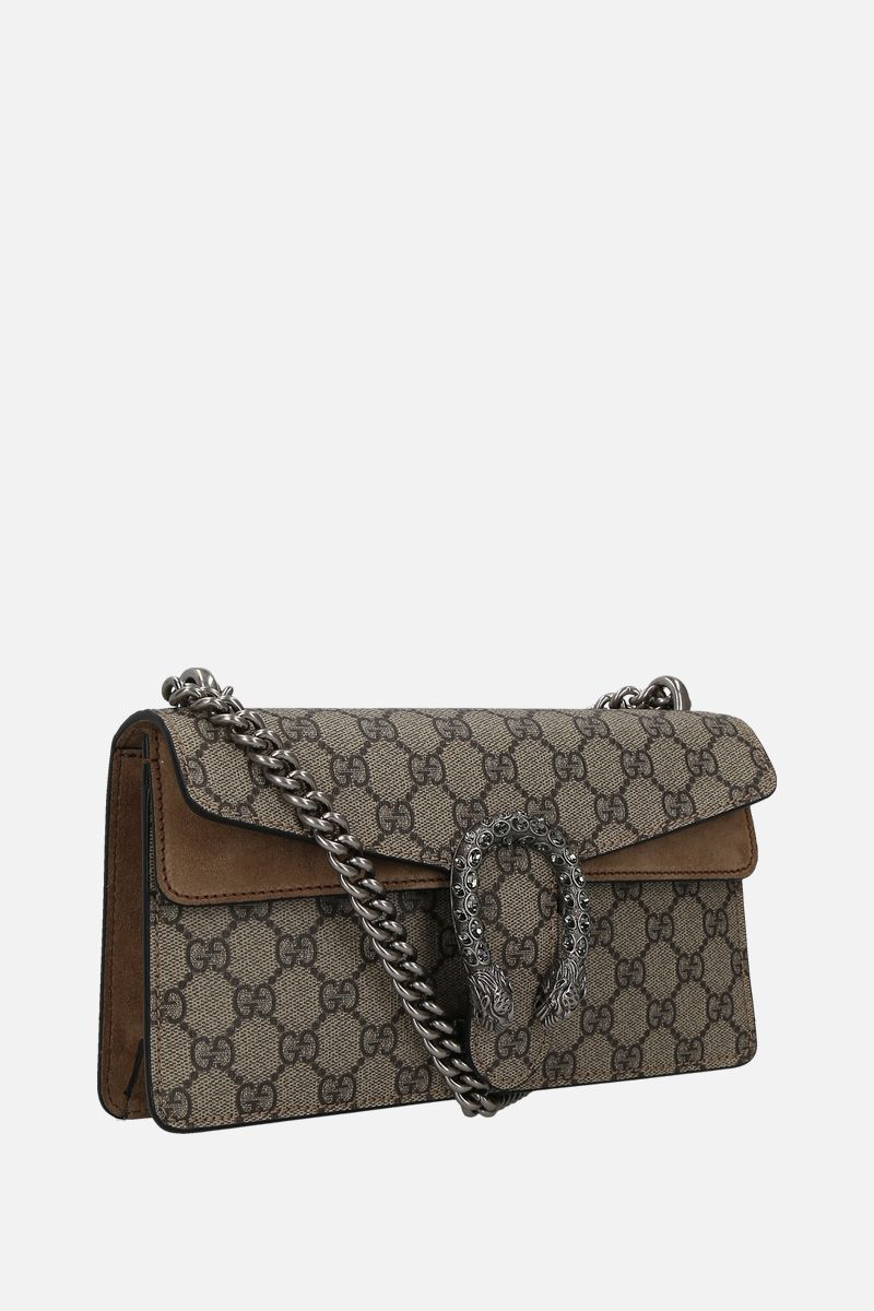 GUCCI: Dionysus small shoulder bag in GG Supreme canvas Color Grey_2