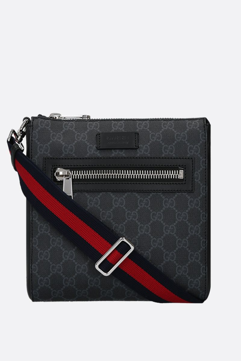 GUCCI: GG Supreme canvas messenger bag Color Black_1