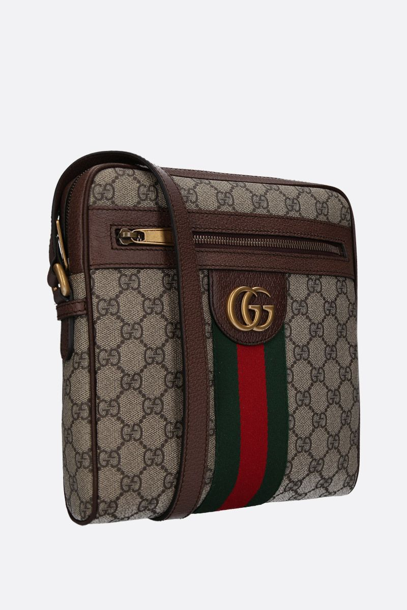 GUCCI: small GG Ophidia GG Supreme canvas crossbody bag Color Multicolor_2