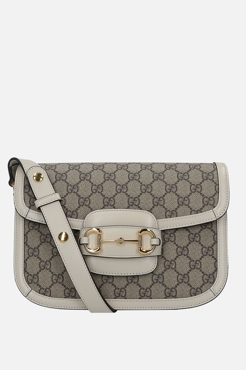 GUCCI: Gucci 1955 Horsebi shoulder bag in GG Supreme canvas Color White_1