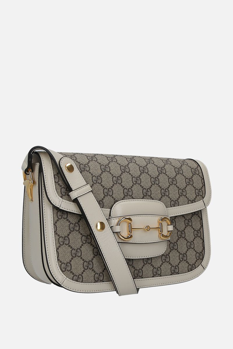 GUCCI: Gucci 1955 Horsebi shoulder bag in GG Supreme canvas Color White_2