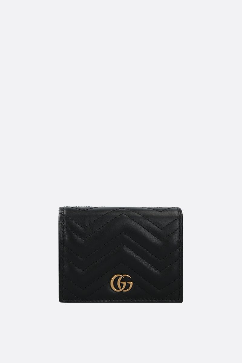 GUCCI: GG Marmont quilted leather chain wallet Color Black_1