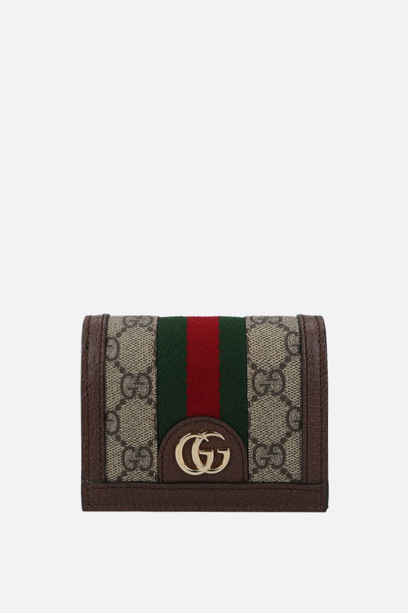 GUCCI: Ophidia GG Supreme canvas wallet on chain Color Neutral_1