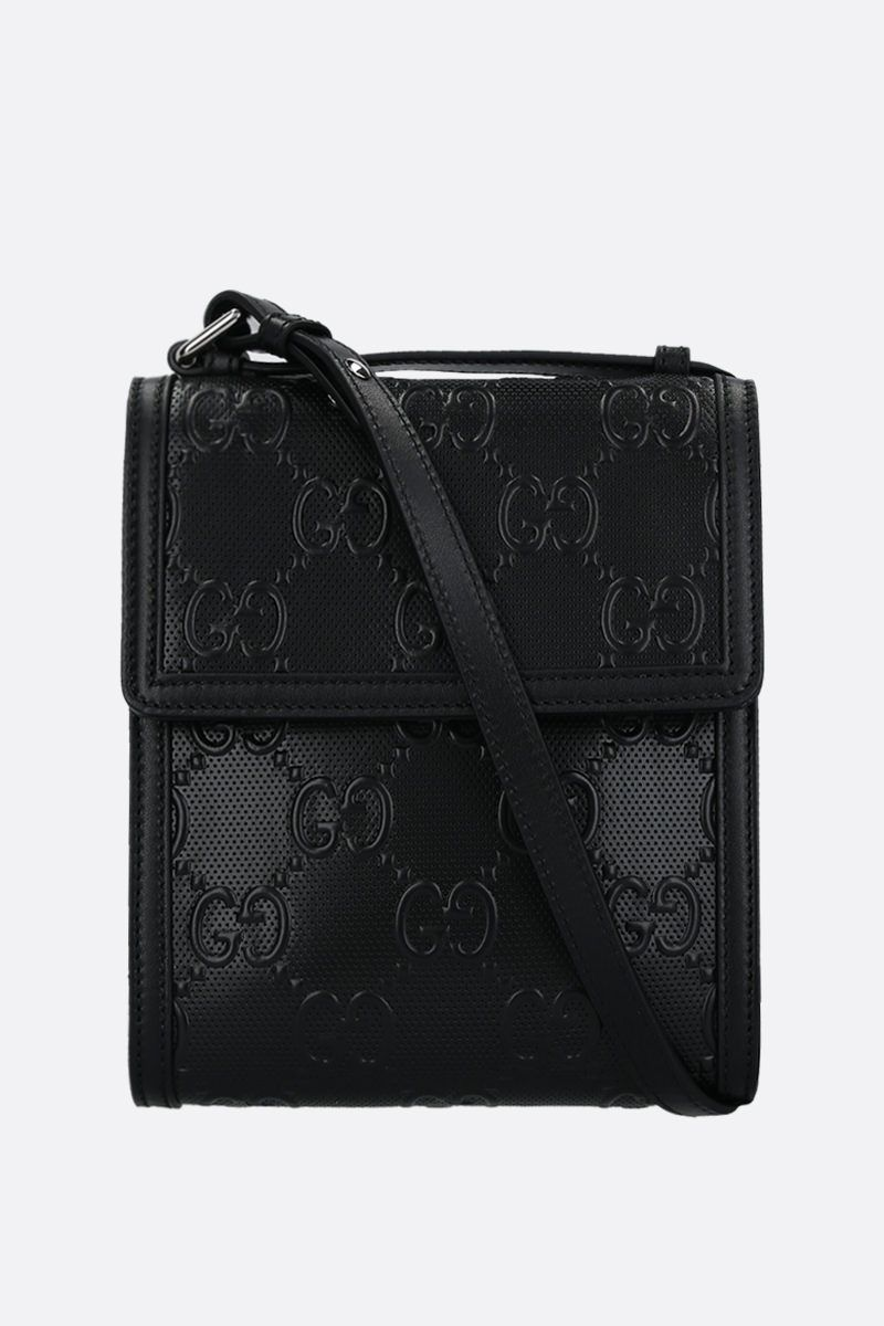 GUCCI: GG leather crossbody bag Color Black_1