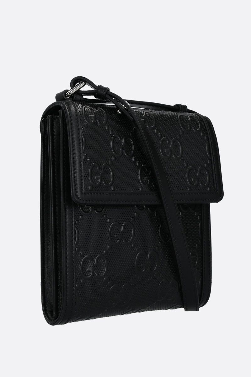 GUCCI: GG leather crossbody bag Color Black_2