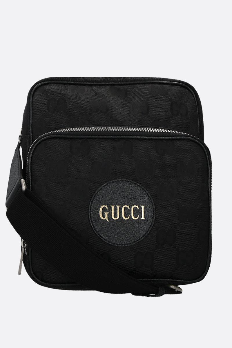GUCCI: Gucci of the Grid messenger bag in ECONYL® Color Black_1