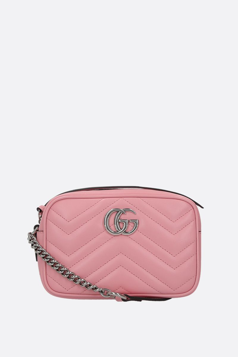 GUCCI: GG Marmont mini quilted leather shoulder bag Color Pink_1