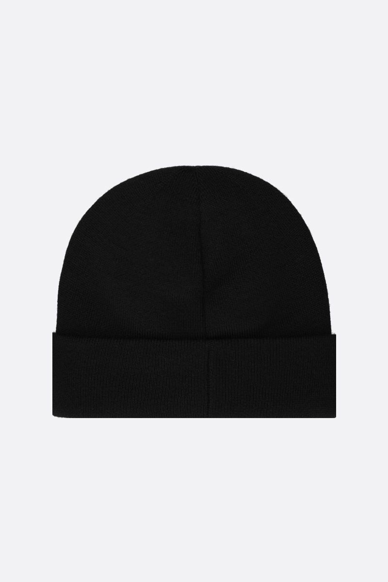 GUCCI: Maison de l'amour Gucci patch wool beanie Color Black_2