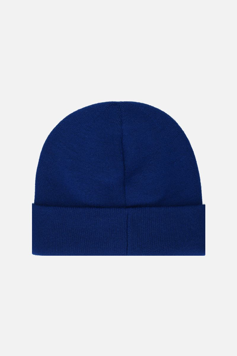 GUCCI: Maison de l'amour Gucci patch wool beanie Color Blue_2