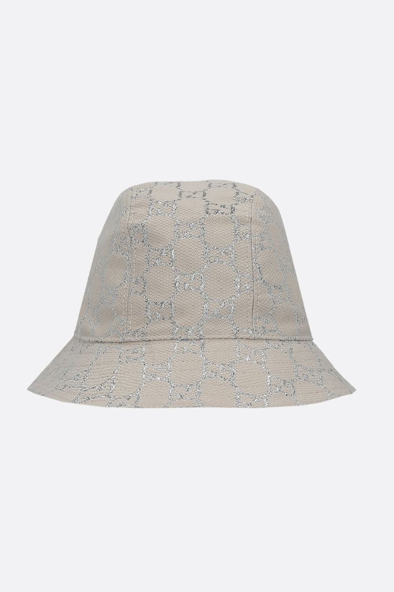 GUCCI: GG lamè bucket hat Color White_1