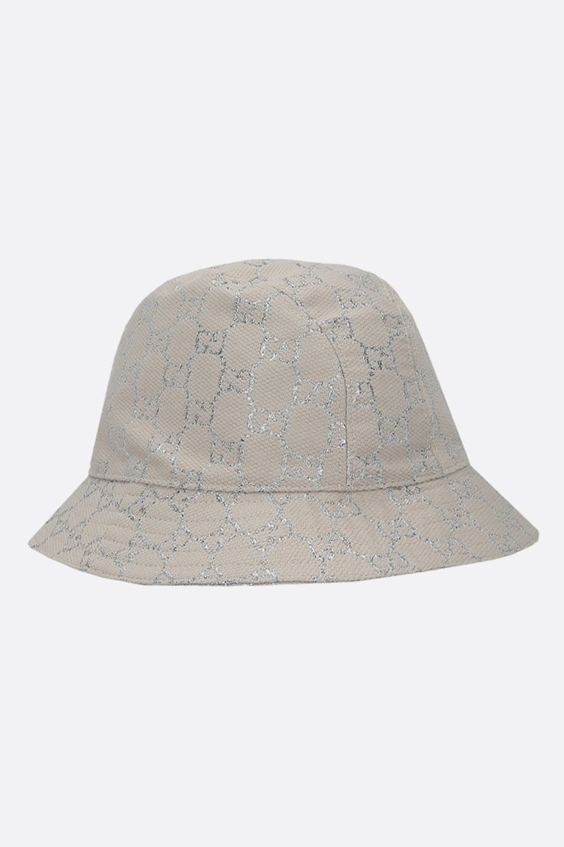 GUCCI: GG lamè bucket hat Color White_2