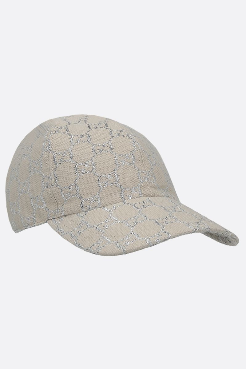 GUCCI: GG lamè baseball cap Color Multicolor_2