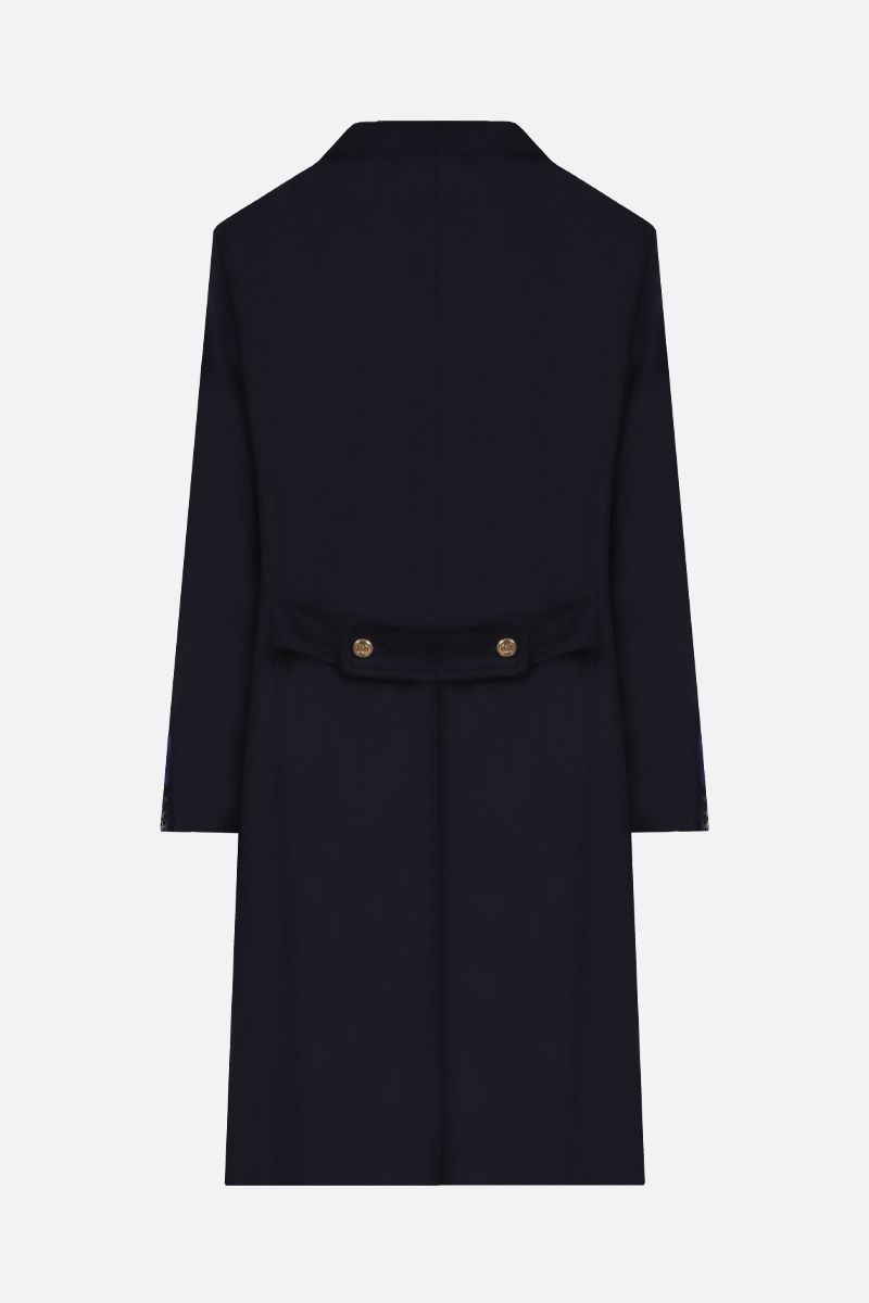 GUCCI: cashmere wool blend single-breasted coat Color Blue_2
