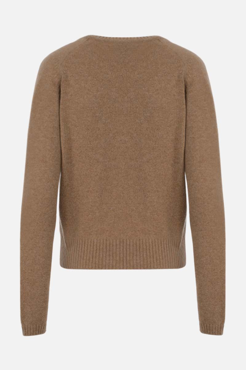 GUCCI: Horsebit-detailed cashmere cardigan Color Neutral_2