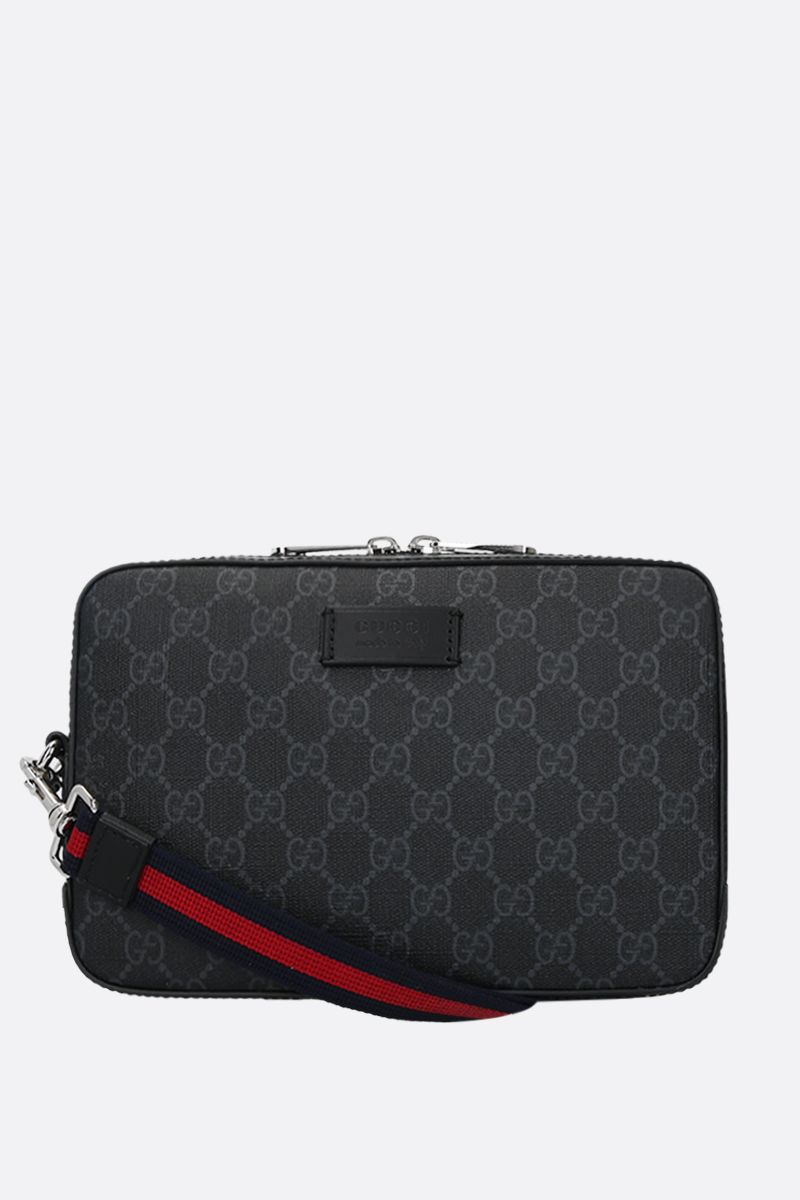 GUCCI: GG Supreme canvas clutch Color Black_1