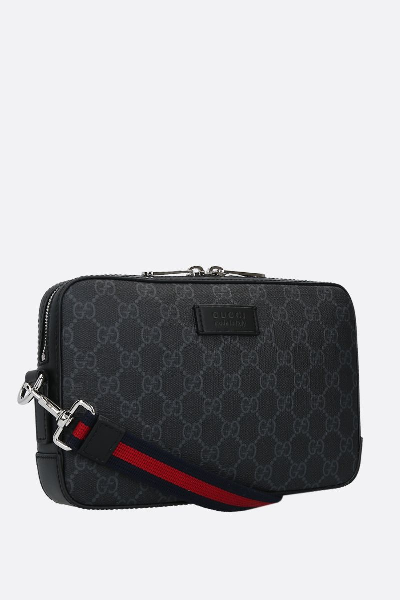 GUCCI: GG Supreme canvas clutch Color Black_2