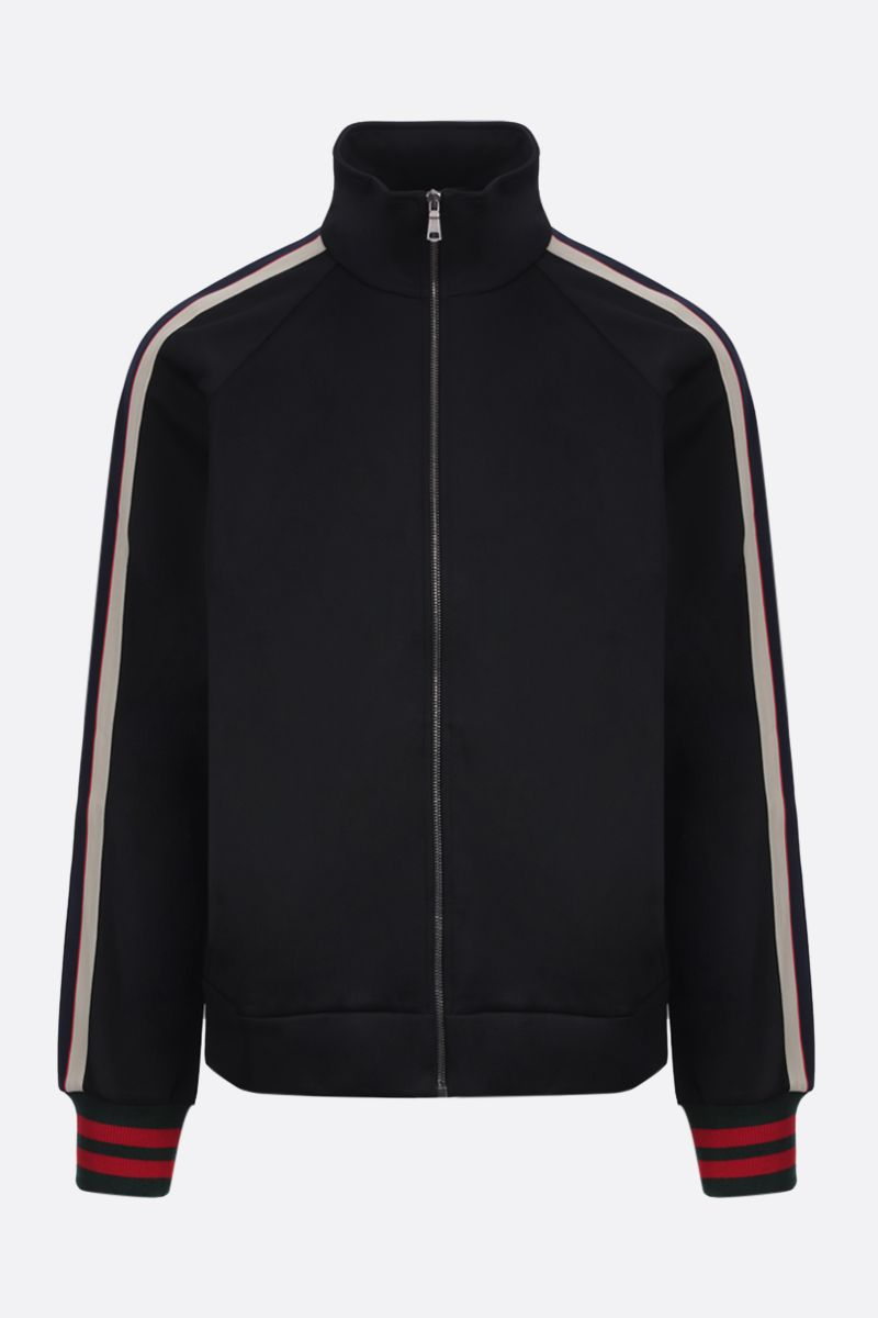GUCCI: technical jersey full-zip sweatshirt Color Black_1