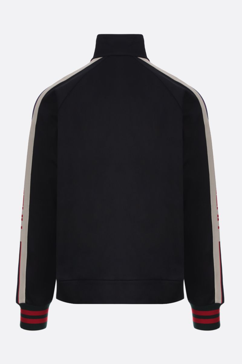 GUCCI: technical jersey full-zip sweatshirt Color Black_2
