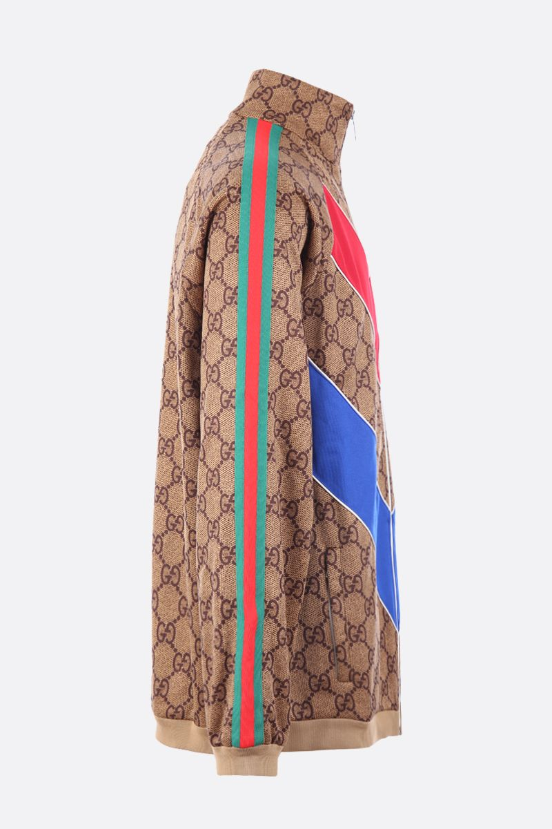 GUCCI: GG technical jersey full-zip sweatshirt Color Neutral_2