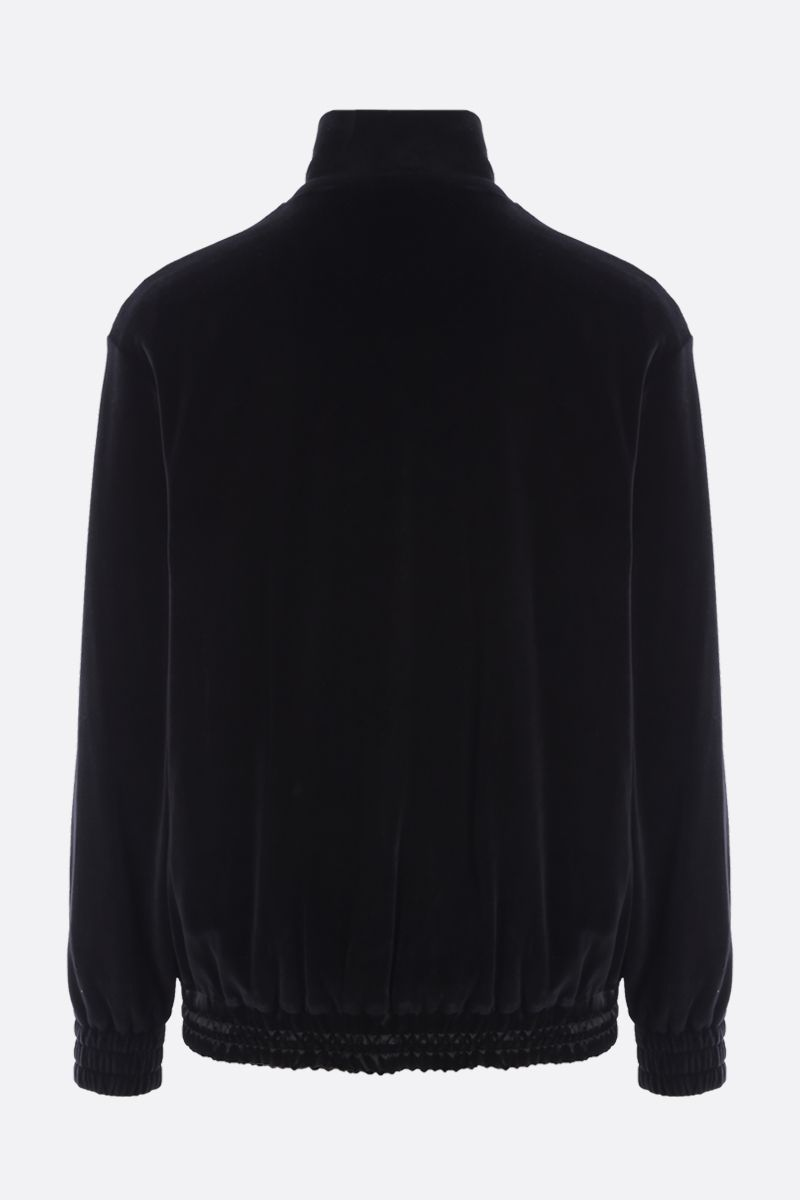 GUCCI: embroidered chenille full-zip oversize sweatshirt Color Black_2