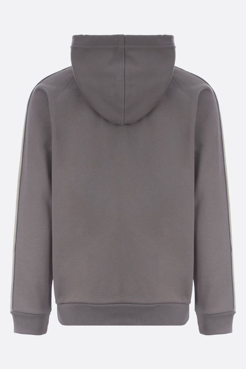 GUCCI: Interlocking G band-detailed cotton hoodie Color Multicolor_2