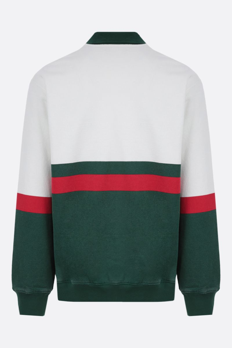 GUCCI: Web motif cotton full-zip jacket Color Neutral_2