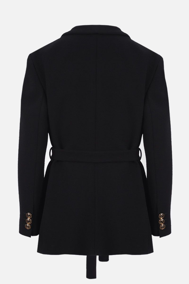 GUCCI: wool single-breasted jacket Color Black_2